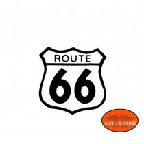 Sticker casque moto Route 66 HD Harley chopper custom accessoire casque moto custom harley trike chopper et bobber