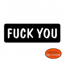 "Sticker casque moto ""Fuck You"" HD Harley chopper custom"