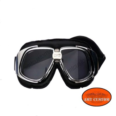 Goggles Motorcycle biker Chrome harley custom trike