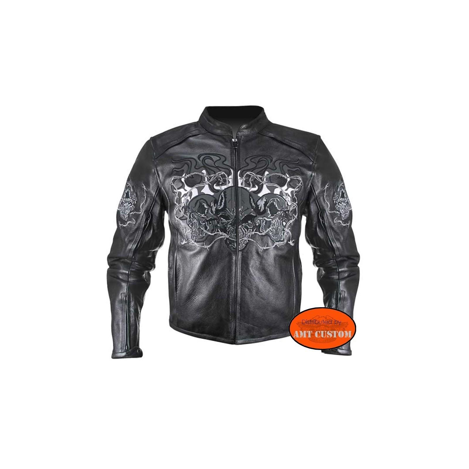 Blouson biker cuir femme pas cher