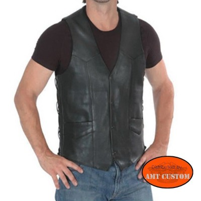Leather Vest biker motorcycle