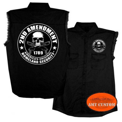Veste Chemise Jeans Skull 2nd amendment