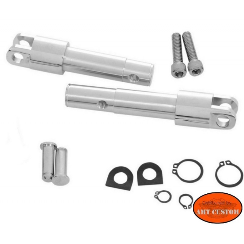 Sportster supports cale pieds pilote Chrome for Harley XL 1200C 1200X 1200V