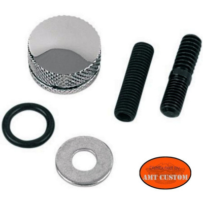 Knurled Seat mounting Knob for Motorcycles Kustom, Choppers, Harley Davidson