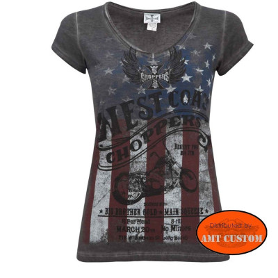 Tee-shirt top American Lady femme WCC