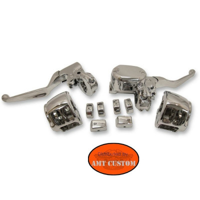 For Sportster Handlebar control kit Chrome - XL883 XL1200 from 2014 to today
