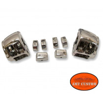 détail cocotte commodo et boutons chrome pour Harley Sportster XL 883 XL1200 Custom - Forty Eight - Iron - Seventy two ...