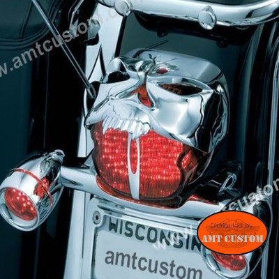 Skull Zombie Taillight Chrome for Harley Motorcycles