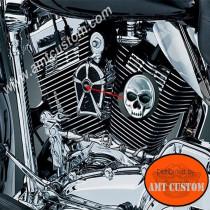 Grille couvercle Klaxon Tête de mort Zombie Harley skull HD kuryakin