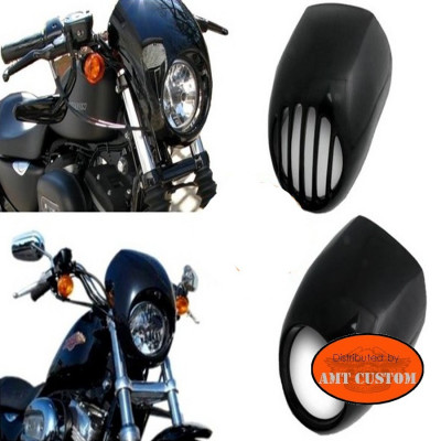 Bulle capotage phare pour Harley Sportster et Dyna