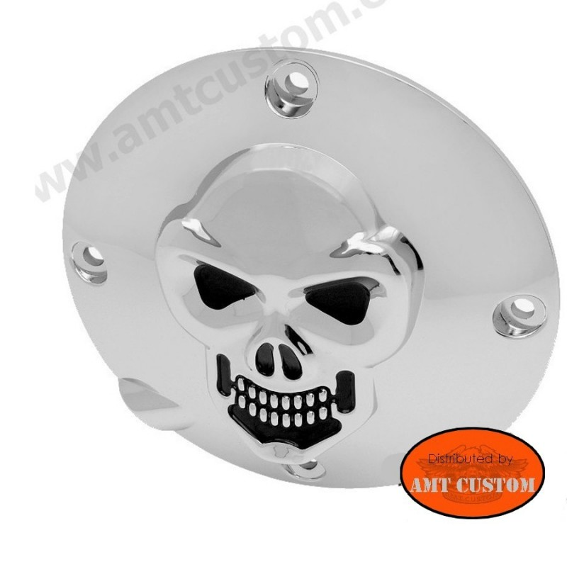 Sportster cache embrayage tête de mort Skull chrome XL833 & XL1200 harley