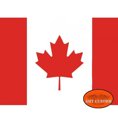 Canada flag pennant for motorcycle's mast