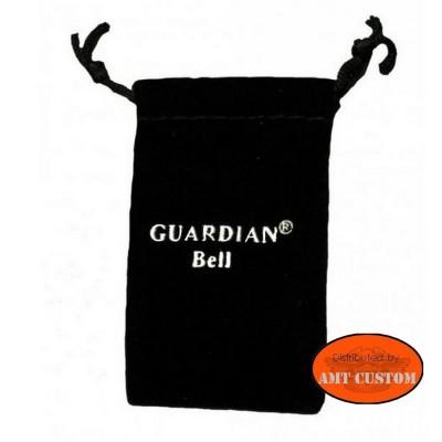 Pochette étui écrin Clochette Skull tête de mort Os porte-bonheur moto Guardian Bell