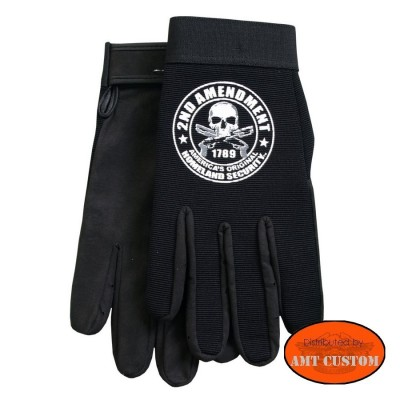 Gants Biker 2nd Amendment Skull moto custom trike choppers