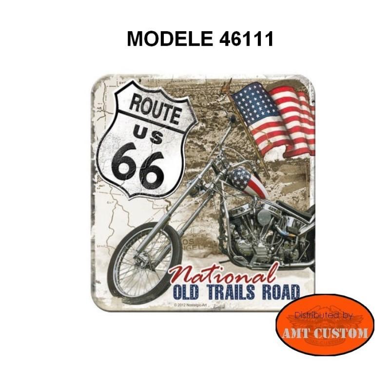Sous-verre Route 66 moto custom harley