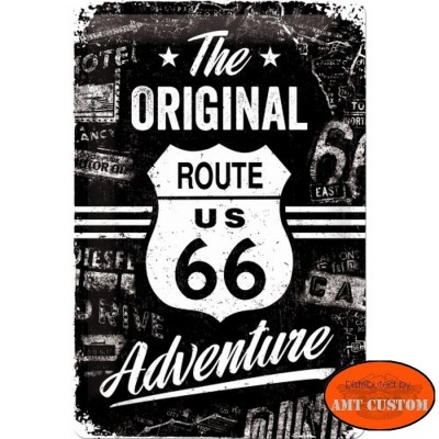Metal sign Road 66 US