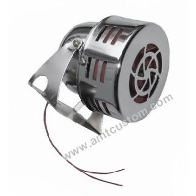 Sirène turbine moto trike 12V - compacte chrome