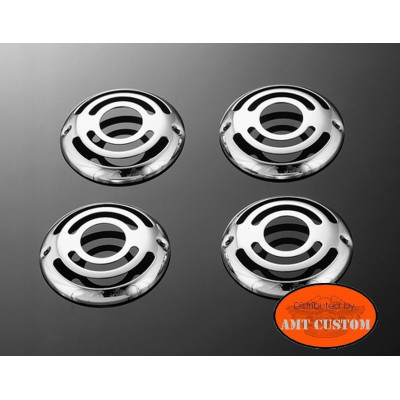 4 turnsignal grills chrome for Yamaha - Suzuki - Kawasaki: Marauder, Intruder, Virago, Dragstar, V-Star, ...