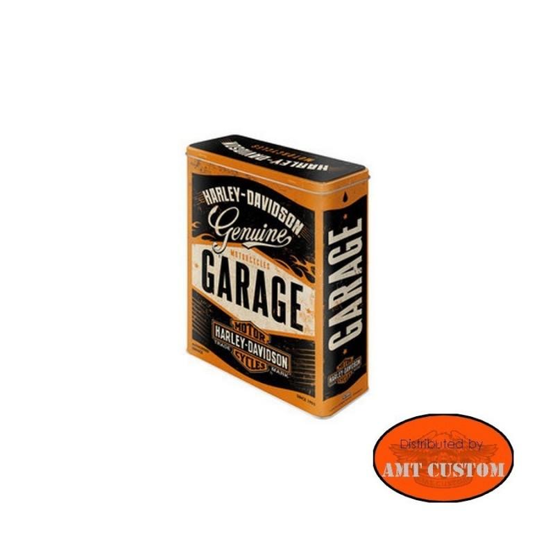 Boite Harley Davidson Garage métal