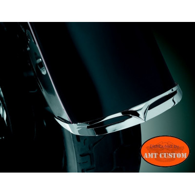 Chrome Ornament fender tip for Harley Sportster Dyna Fatboy...