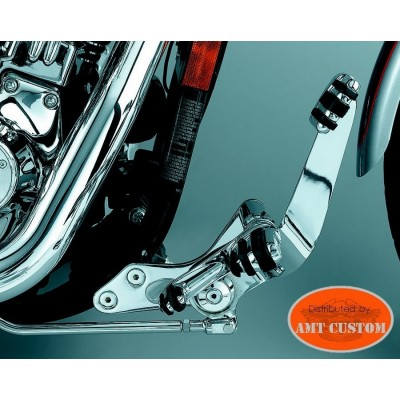 Dyna Kit commandes avancées chromes Harley FXD Street Bob, Low Rider, Wide Glide, ...