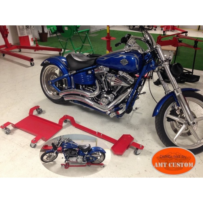 Chariot déplacement moto - Parkingmoto roulant