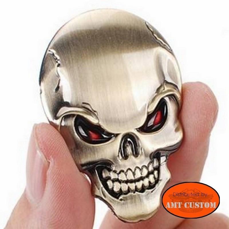 Emblème tête de mort relif 3D.