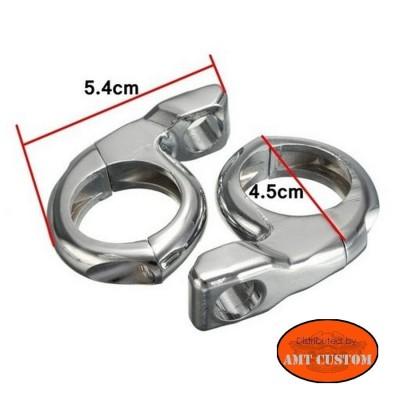 """Attache universelle compacte pour tube 25 mm (1"""") dimensions"""