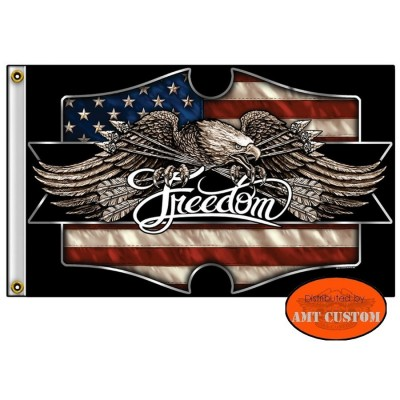 Drapeau Biker Aigle USA Freedom