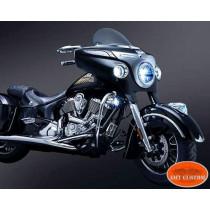 "Honda Kawasaki Suzuki Front fender tip Universal 6"" adhesif"