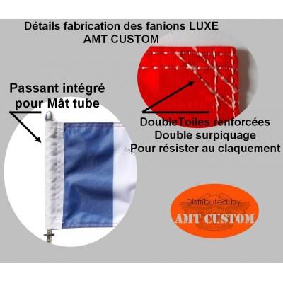 "Détail fabrication Drapeau fanion Biker Aigle ""Live To Ride"""