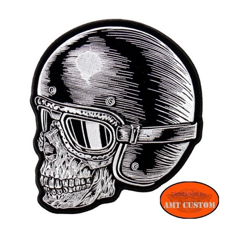Patch écusson skull casqué
