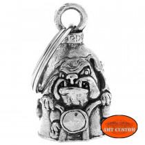 Clochette Bulldog porte-bonheur moto Guardian Bell
