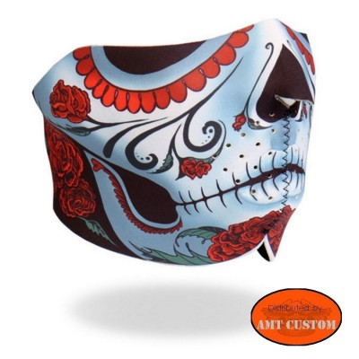 Neoprene mask moto custom muerta skull harley