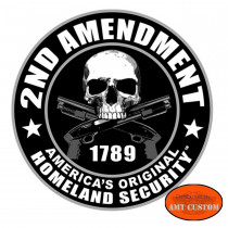 Sticker casque moto skull 2nd Amendment