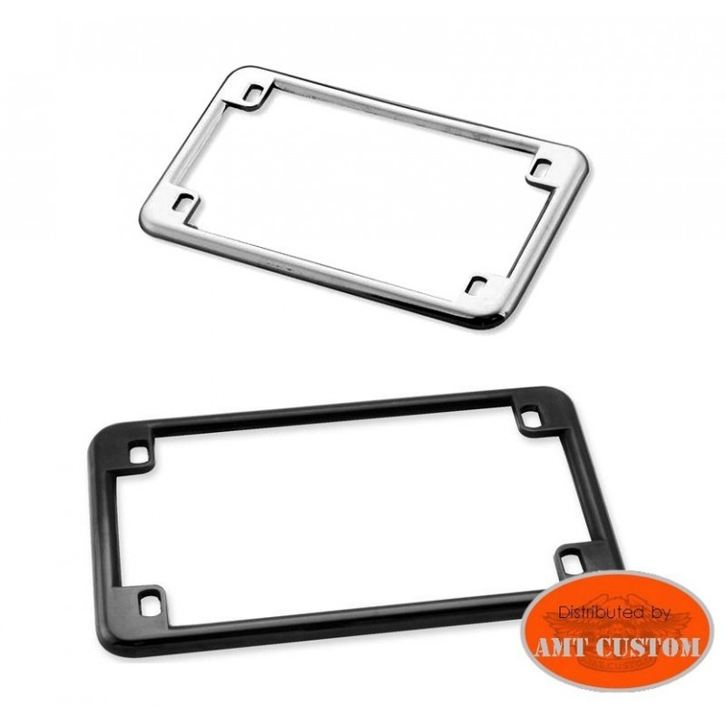 License Plat Frame motorcycles Black or Chrome Harley, Choppers, Bobbers