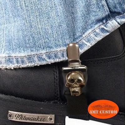 Paire de clips pantalon Tête de mort biker