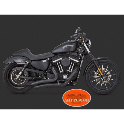 Sportster Big Radius Noir Harley XL833 - XL1200 - Custom - Iron - Forty Eight - Seventy two - Super Low