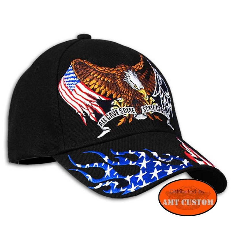 Eagle flag US ball Cap biker motorcycle custom harley trike chopper