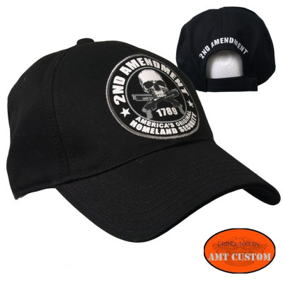 2nd Amendment biker ball cap biker motorcycle custom harley trike chopper