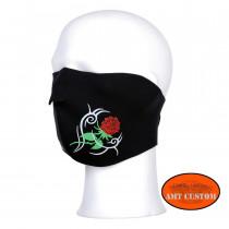 Zan Headgear Rose Neoprene Half Face Mask motorcycles custom harley chopper trike mask