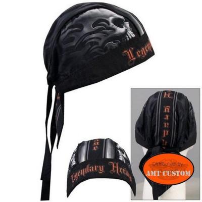 Zandana biker Skull Heritage couvre tête moto custom accessoire biker custom