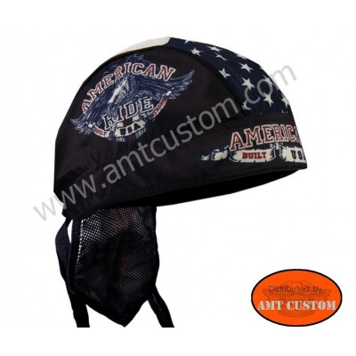 Eagle flag American ride US Bandana Zandan motorcycle cap custom harley