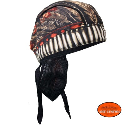 Indian feather biker Bandana Zandan motorcycle cap custom harley