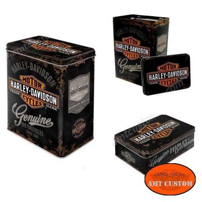 Boite Harley Davidson métal - Original Genuine