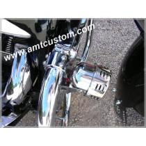 Attache universelle chrome - clamps moto harley custom