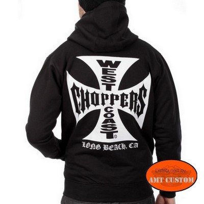 Veste capuche sweat Biker West Coast Choppers Original