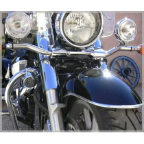 Attache universelle chrome - clamps moto harley.