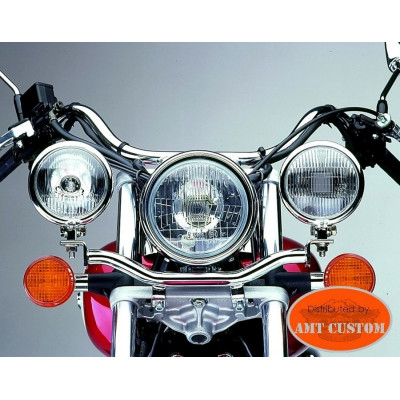 Honda Barre Phare additionnel Chrome Shadow VT125, VT750, VT1100, VTX1300