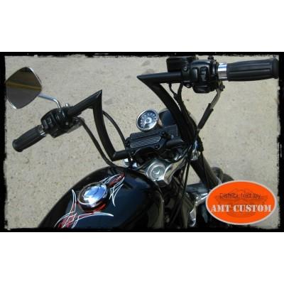 """Guidon Noir Keystone XL pour  Harley Davidson 25mm (1"""")"""
